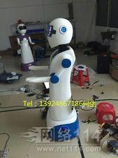 卡通餐厅送餐机器人【玻璃钢纤维机器人雕塑】