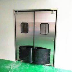 武汉不锈钢防撞门|黄石车间不锈钢自由门|食品车间净洁门|批发