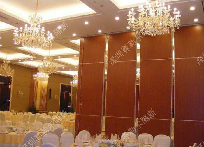 可移动饭店隔断墙 折叠活动屏风供应 惠州赛勒尔隔断厂家生产图片