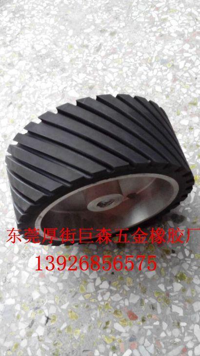 200X100X25橡胶砂带轮、砂带机胶轮、橡胶抛光轮耐高温