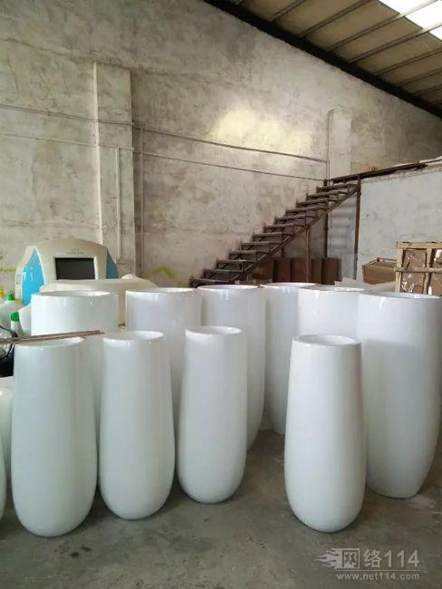 深圳酒店装饰花盆摆设纤维花盆造型供应厂家