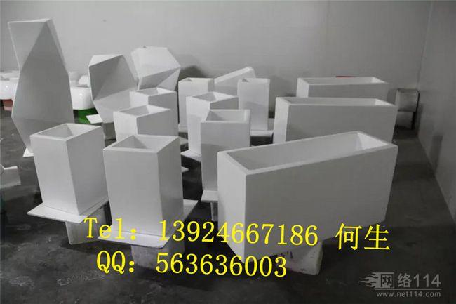 深圳机场花盆批发机场白色花盆摆设