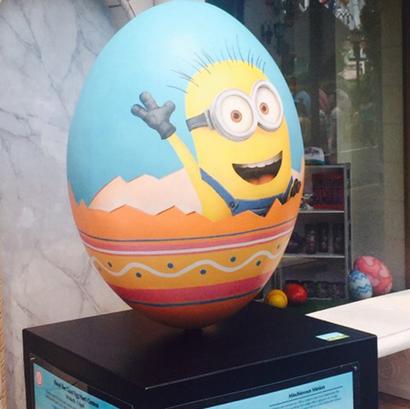 彩绘圆球气球地球仪高尔夫球玻璃钢雕塑