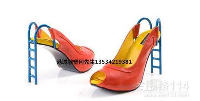 深圳仿真高跟鞋玉米雕塑 玻璃钢滑滑梯雕塑