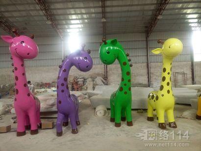 邵阳卡通长颈鹿雕塑