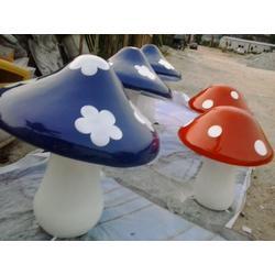 防真玻璃钢蘑菇雕塑玻璃钢植物雕塑
