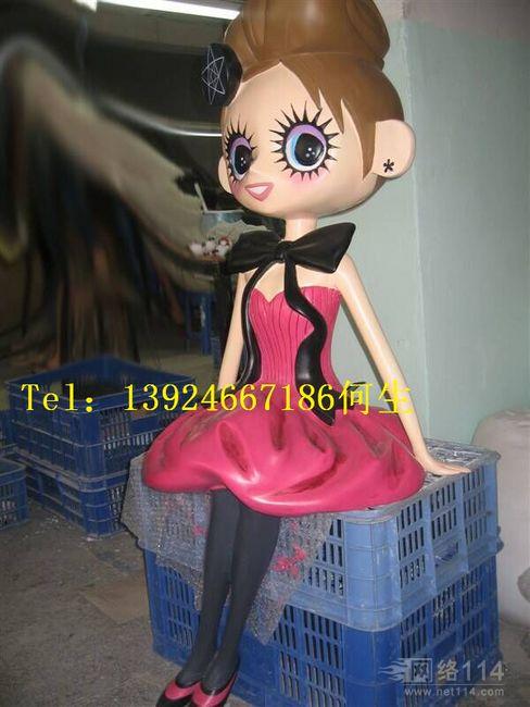芭比娃娃摆设玻璃钢雕塑