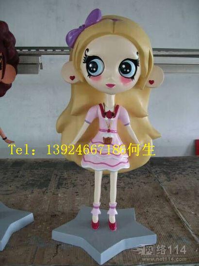 深圳纤维卡通芭比娃娃雕塑