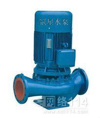 ISG立式管道泵选型冠星牌单级单吸管道离心泵型号广东水泵厂家