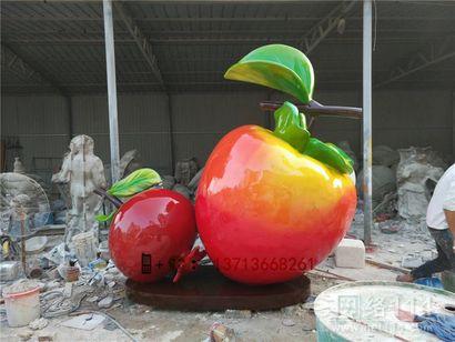户外仿真大型水果雕塑柿子雕塑图片