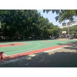 柳州林溪小区丙烯酸篮球场竣工