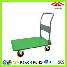 钢板物流平板手推车、超静音折叠平板车