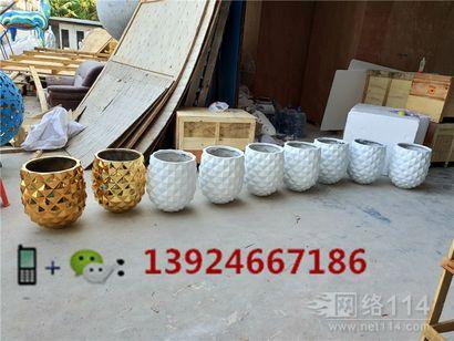 玻仟装饰花钵定做生产工厂