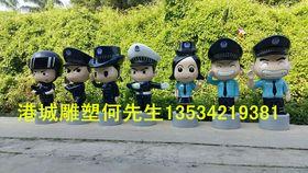 深圳交通警雕塑 玻璃钢卡通人物雕塑查看原图(点击放大)