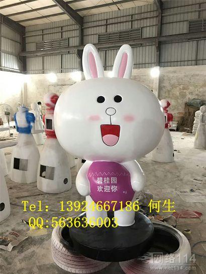 玻璃钢可妮兔公仔雕塑图片大型纤维可妮兔公仔制作