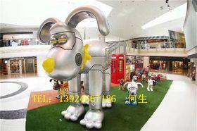 深圳商场活动小狗雕塑大型吉祥物小狗供应厂家查看原图(点击放大)