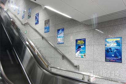 杭州地铁楼梯广告