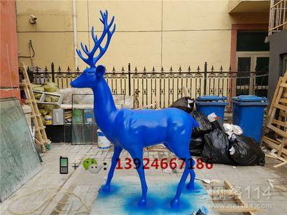 酒店吉祥物鹿雕塑回头鹿价格圣诞鹿供应厂家