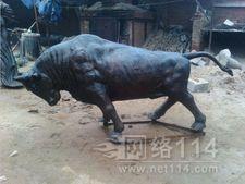 仿真动物雕塑 玻璃钢开荒牛雕塑