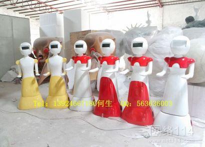 餐厅卡通机器人外壳雕塑