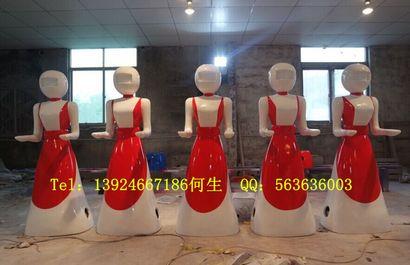 餐厅机器人玻璃钢雕塑
