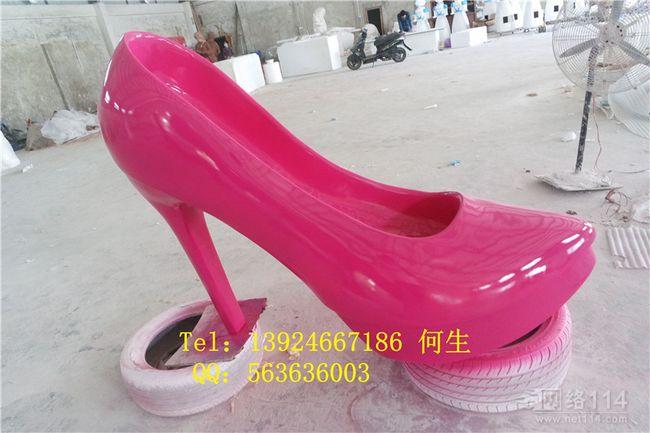 玻璃钢纤维大型仿真高跟鞋模型制作品牌高跟鞋造型生产厂家
