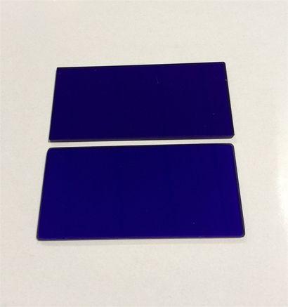 蓝色钴玻璃 高温视镜玻璃 耐高温玻璃定制 激光防护玻璃