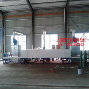 Automatic painting machine for steel pipe couplings