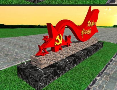 遂宁雕塑厂,玻璃钢党旗专业免设计加工
